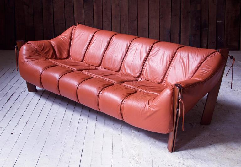 Percival Lafer MP-211 Brazilian Rosewood and Leather Sofa, 1970s at ...
