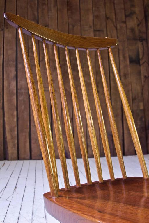 Signed New Chair By George Nakashima In Walnut And