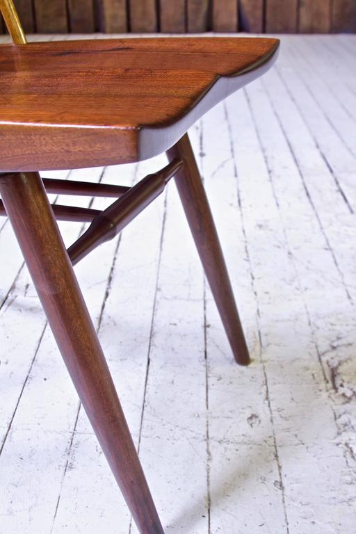 Signed 'New Chair' by George Nakashima in Walnut & Hickory, 1950s In Excellent Condition In Brooklyn, NY