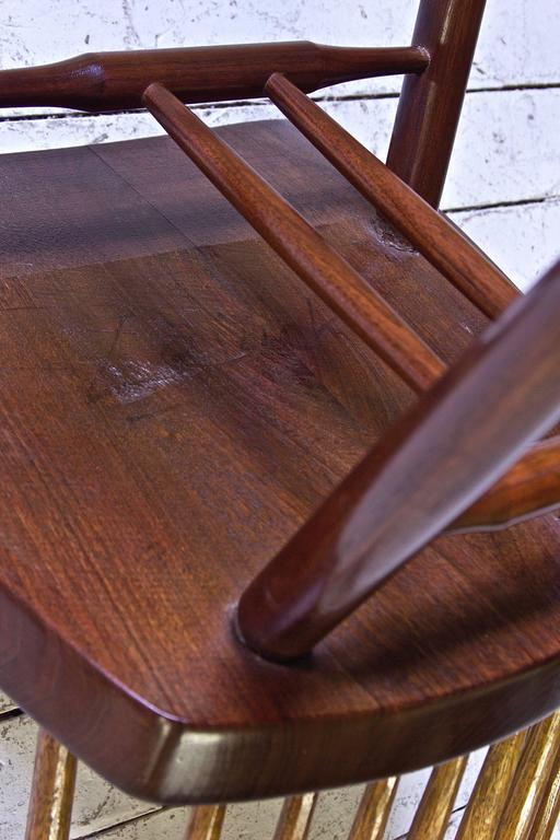 Signed 'New Chair' by George Nakashima in Walnut & Hickory, 1950s 3