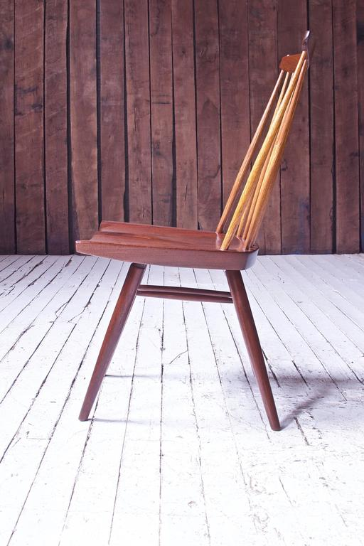 American Craftsman Signed 'New Chair' by George Nakashima in Walnut & Hickory, 1950s