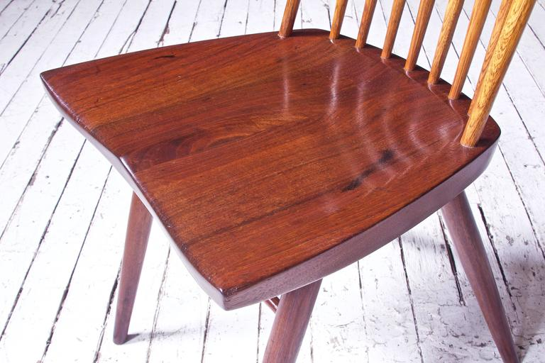 Mid-20th Century Signed 'New Chair' by George Nakashima in Walnut & Hickory, 1950s