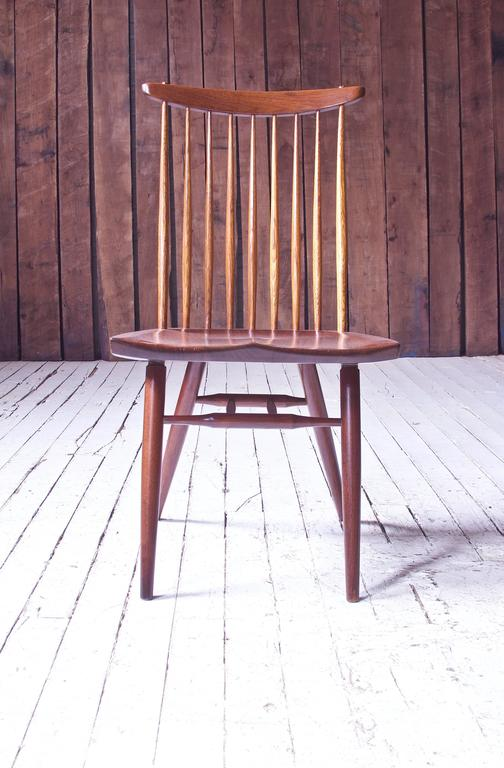 American Signed 'New Chair' by George Nakashima in Walnut & Hickory, 1950s