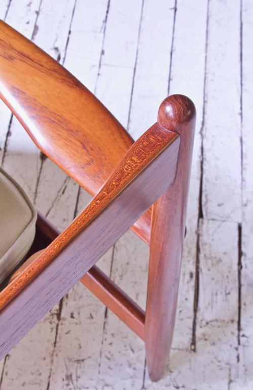 Vintage Grete Jalk Fd-118 Easy Chair in Teak and Beige Wool, 1960s For Sale 2