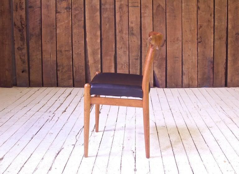 Danish Vintage Hans Wegner for C.M. Madsens 'W2' Chair in Oak; Denmark, 1950s For Sale