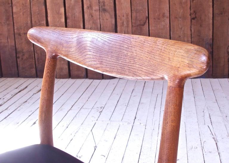 Vintage Hans Wegner for C.M. Madsens 'W2' Chair in Oak; Denmark, 1950s For Sale 1