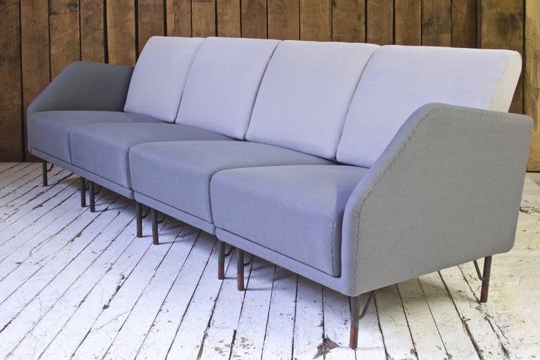 Rarest Finn Juhl for Bovirke Two-Tone Wool & Rosewood Modular Sofa Set; 1953 For Sale 2