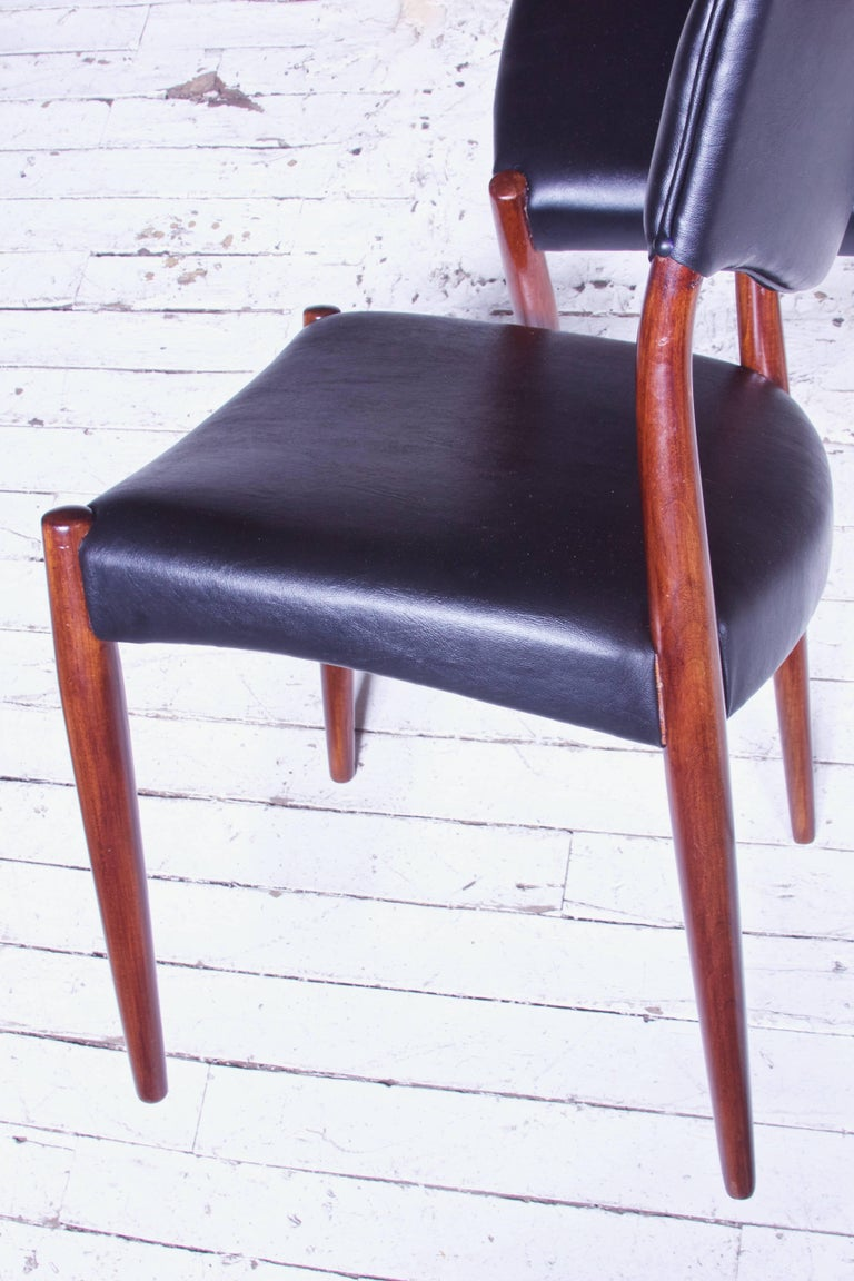 Mid-20th Century Set of Eight Teak Dining Chairs by Aksel Bender Madsen & Ejner Larsen, 1952 For Sale