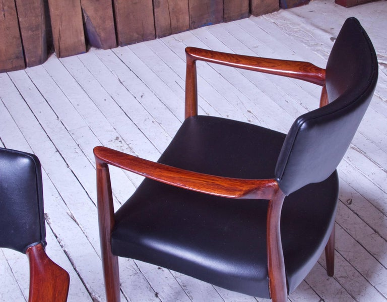 Set of Eight Teak Dining Chairs by Aksel Bender Madsen & Ejner Larsen, 1952 For Sale 1