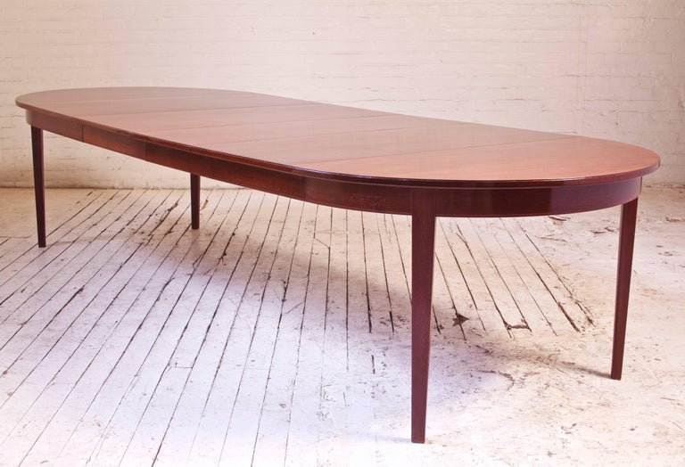 Vintage Dining Table in Teak with Four Leaves by Thorald Madsens ...