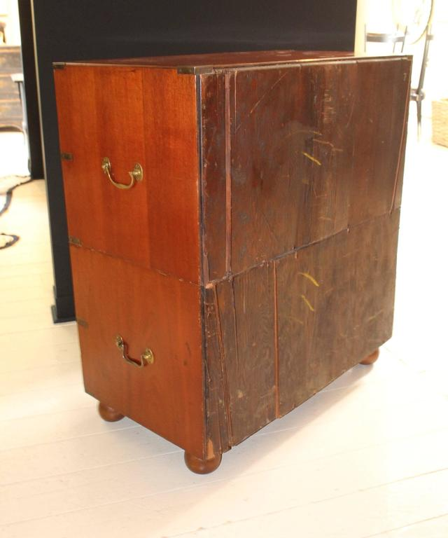 Mahogany 19th Century England Campaign Chest For Sale