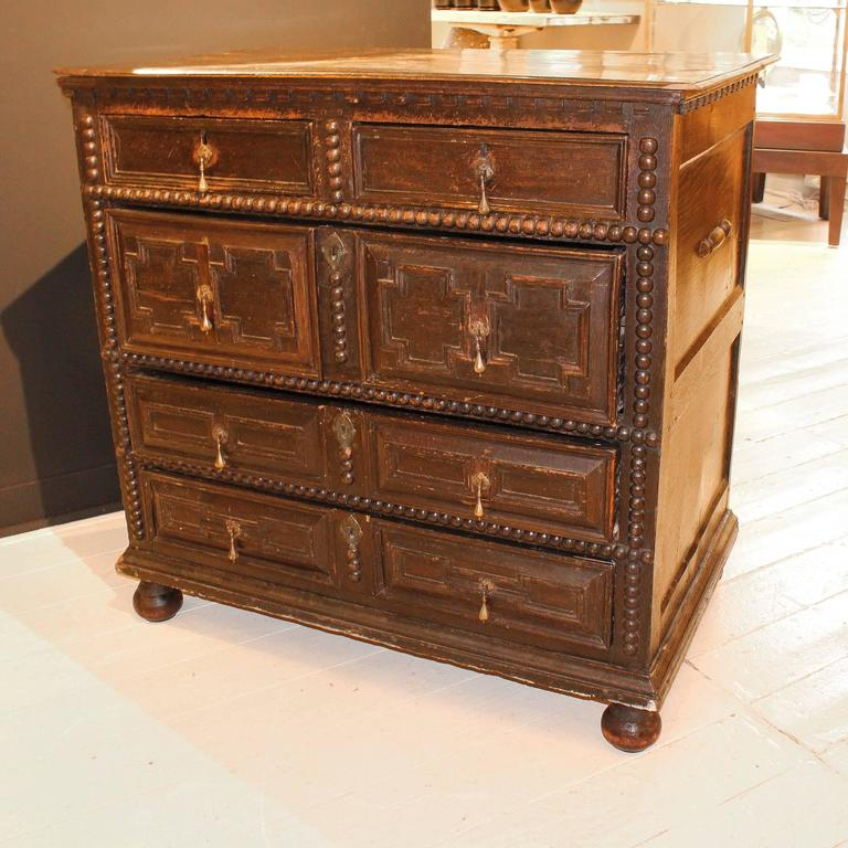 Period 17th-Early 18th Century Pilgrim Chest For Sale 3