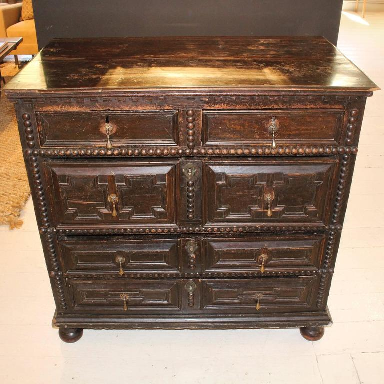 Period 17th-Early 18th Century Pilgrim Chest For Sale 4