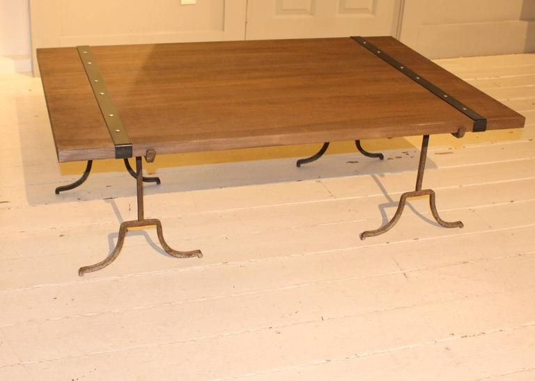 American Wood Cocktail Table For Sale