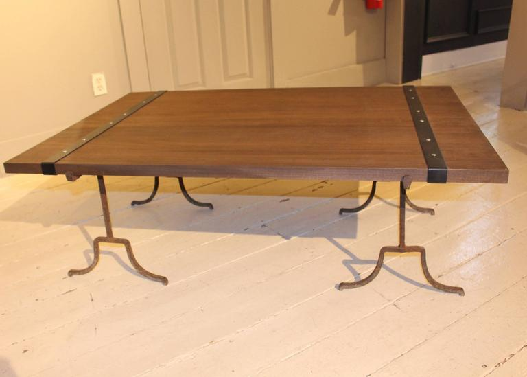 Contemporary Wood Cocktail Table For Sale
