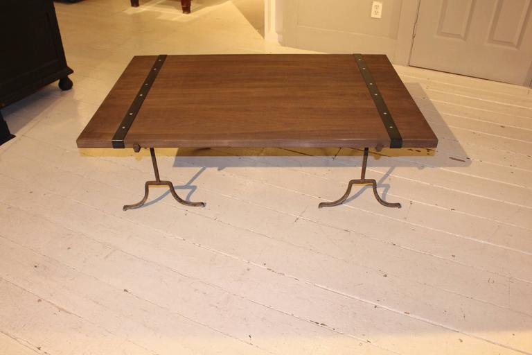 Poplar Wood Cocktail Table For Sale