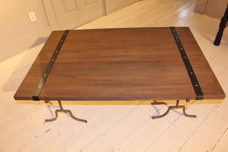 Wood Cocktail Table For Sale 2