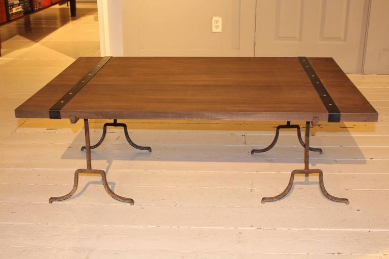 Wood Cocktail Table For Sale 1