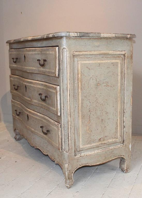 19th Century French Decoratively Painted Chest For Sale 2