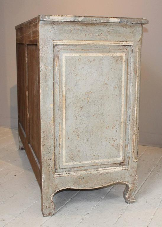 Wood 19th Century French Decoratively Painted Chest For Sale
