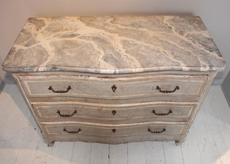 19th Century French Decoratively Painted Chest For Sale 5