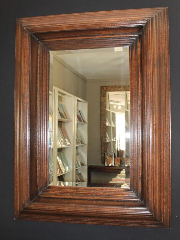 19th Century Oak Carved Mirror 2