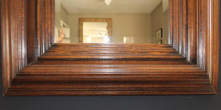 19th Century Oak Carved Mirror 3