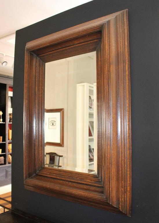 19th Century Oak Carved Mirror 5