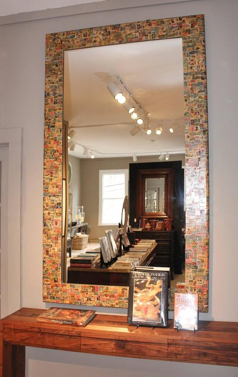 20th Century Postage Stamp Mirror For Sale 1