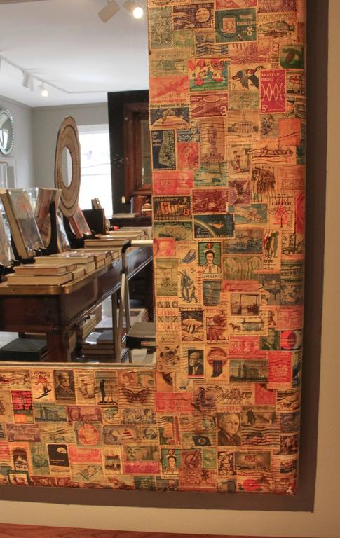 Late 20th Century 20th Century Postage Stamp Mirror For Sale