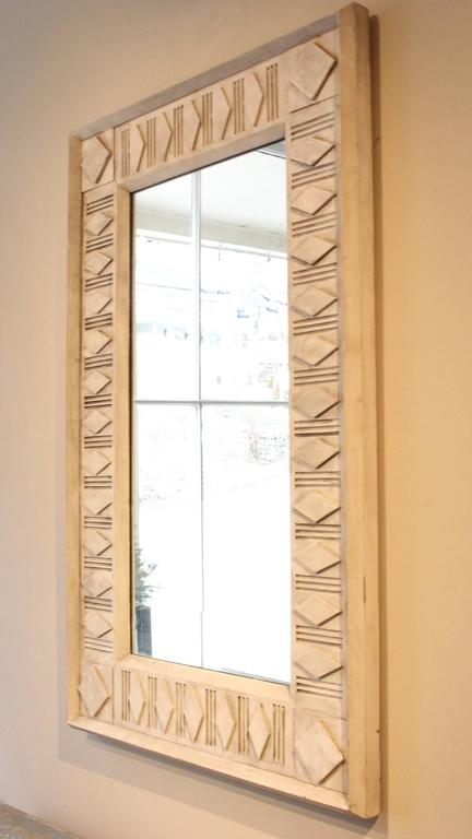 Rectangle Painted Architectural Mirror In Good Condition For Sale In New Preston, CT