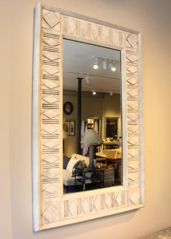 American Rectangle Painted Architectural Mirror For Sale