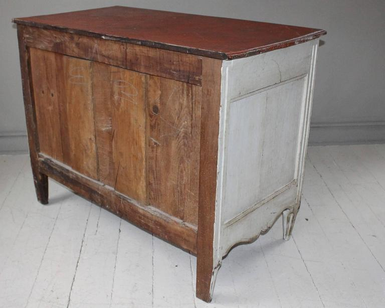 Painted French Three-Drawer Commode 4