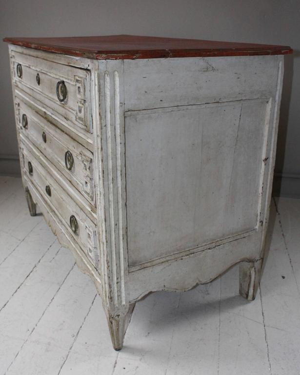 Painted French Three-Drawer Commode 5
