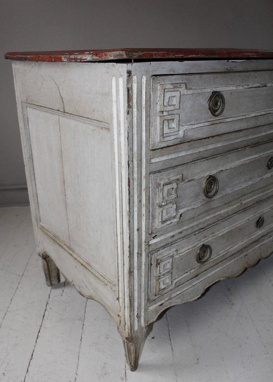Painted French Three-Drawer Commode 3