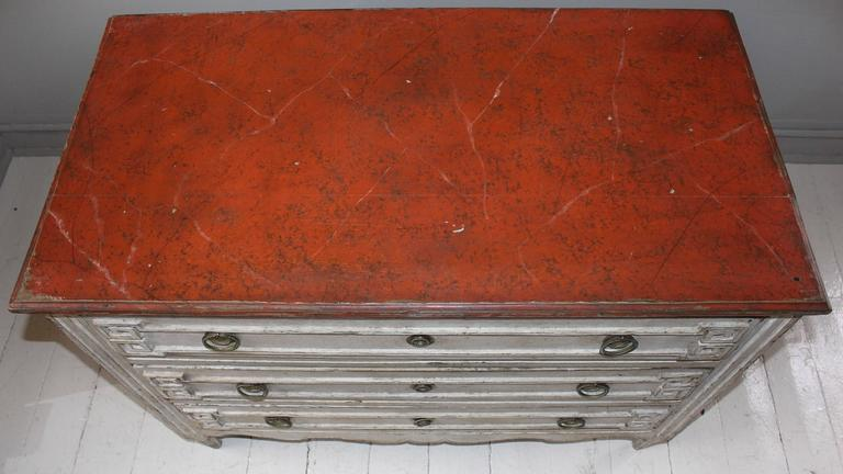 Painted French Three-Drawer Commode 7