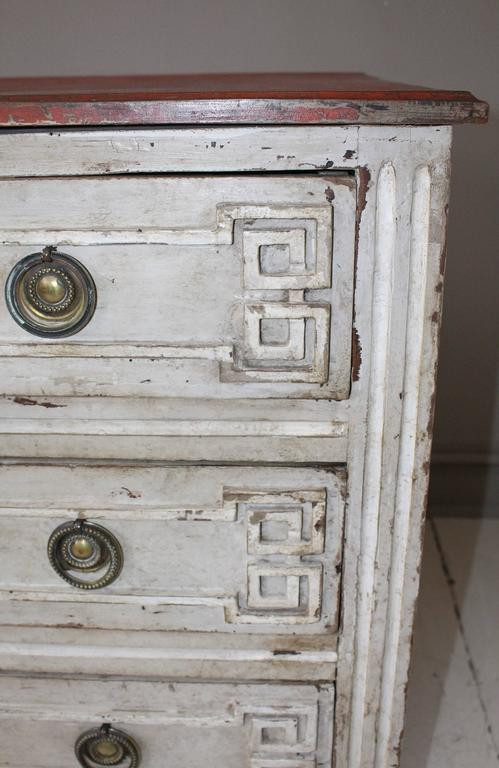 Painted French Three-Drawer Commode 8
