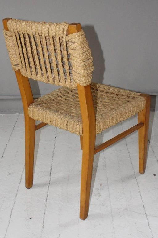 Pair of Vintage French Rope Side Chairs 5