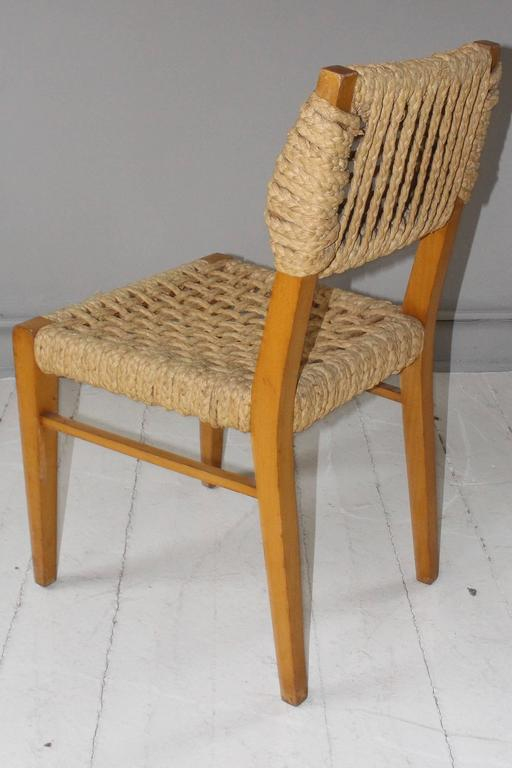 Pair of Vintage French Rope Side Chairs 6