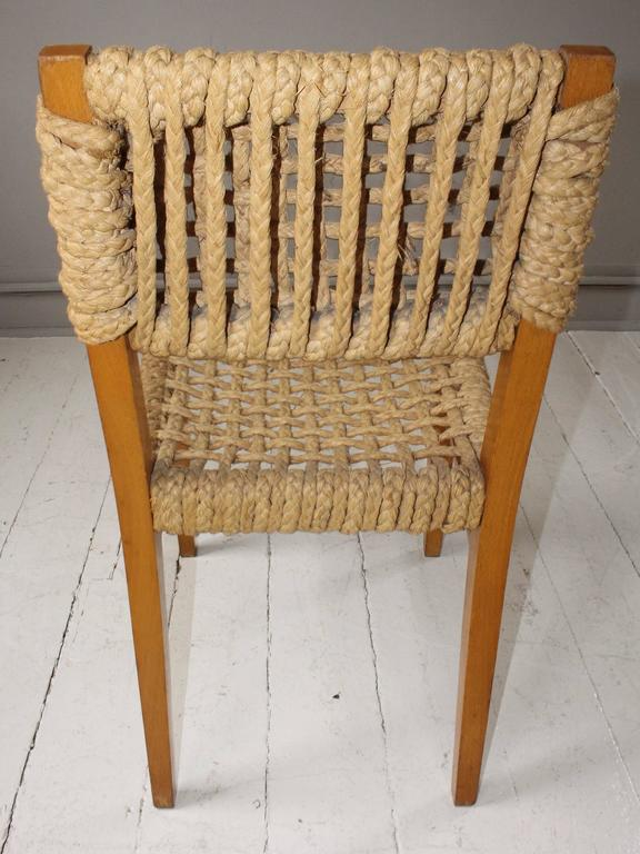 Pair of Vintage French Rope Side Chairs 10