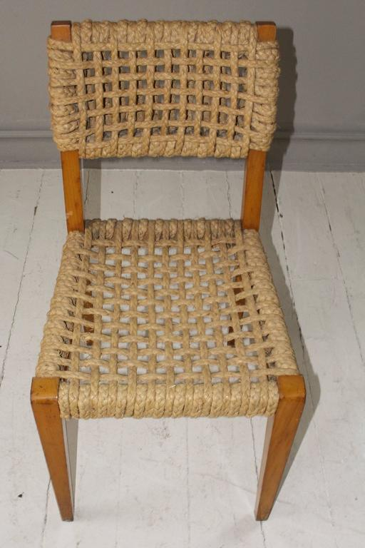 Pair of Vintage French Rope Side Chairs 8