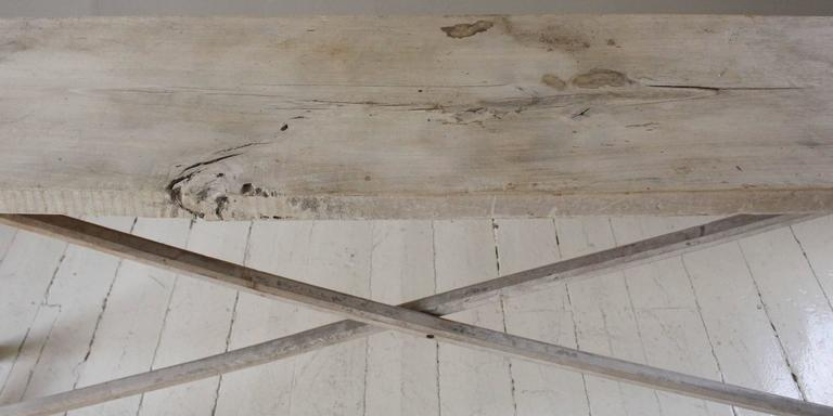 Belgian Vintage Bleached Console Table For Sale 3