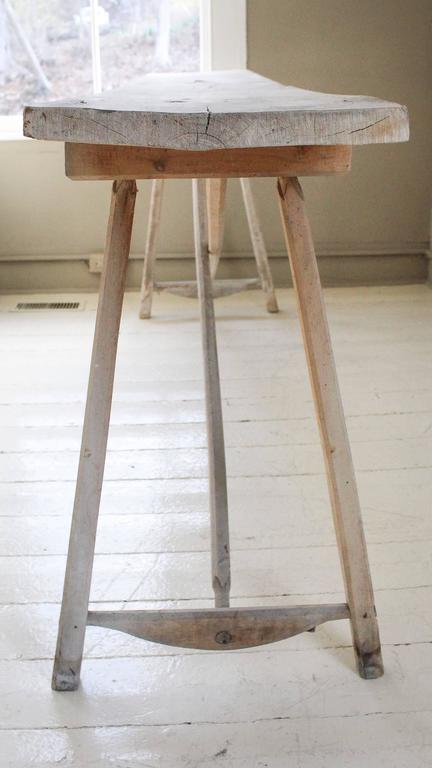 Belgian Vintage Bleached Console Table For Sale 4