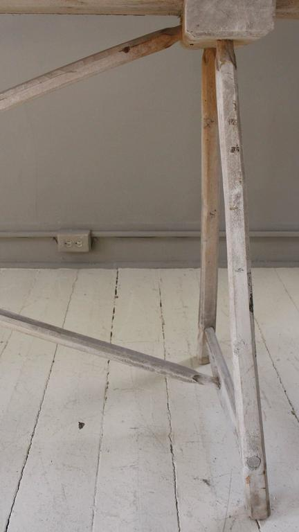 Belgian Vintage Bleached Console Table For Sale 5