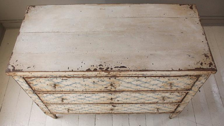 19th Century French Decoratively Painted Chest For Sale 6