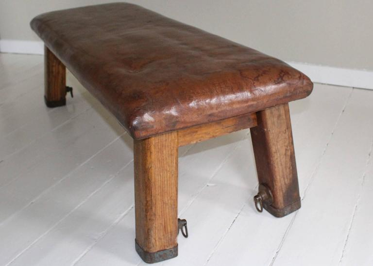French Leather Gym Bench 3