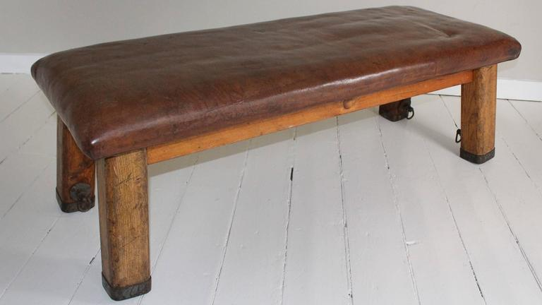 French Leather Gym Bench 2