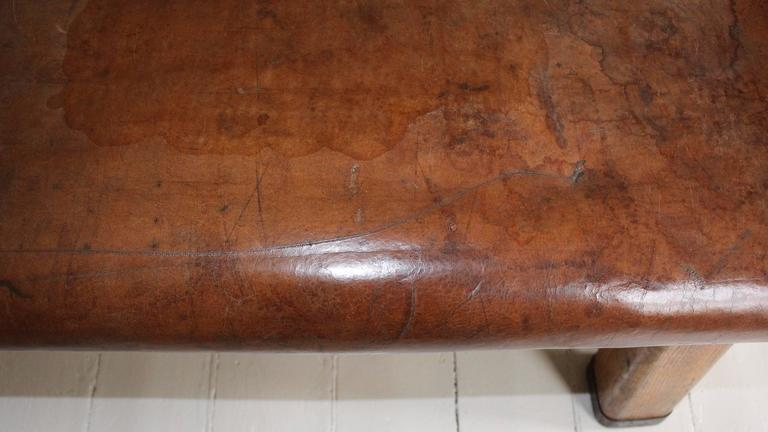 French Leather Gym Bench 6