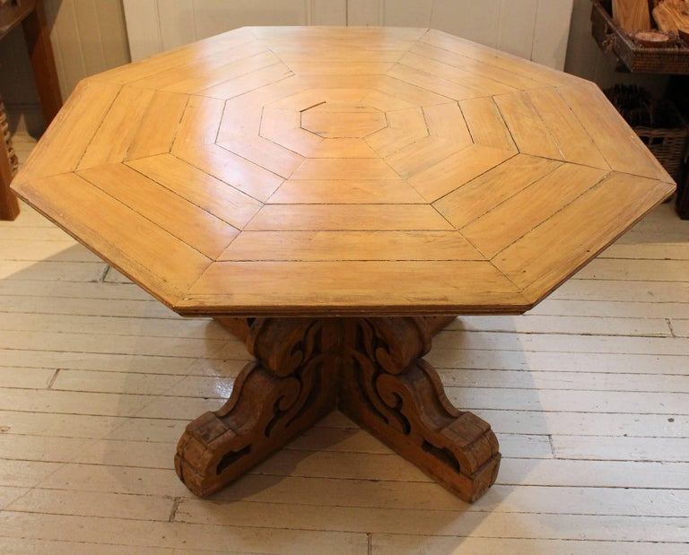 19th Century Folk Art Center Table For Sale 1