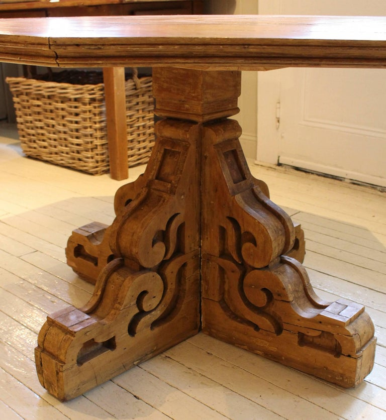 19th Century Folk Art Center Table In Good Condition For Sale In New Preston, CT